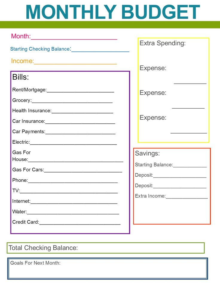 Best  Monthly Budget Printable Ideas On   Free Budget