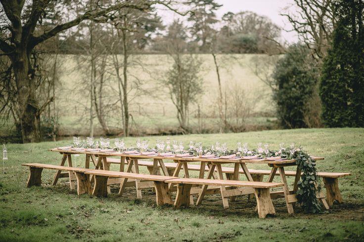 Tafeldecoratie Inspiratie: elegante Boheemse stijl op het Engelse platteland