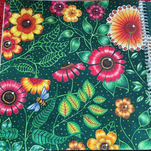 Instagram Post By Elke Talone Elketalone Big Flowers Double Page Secret Garden