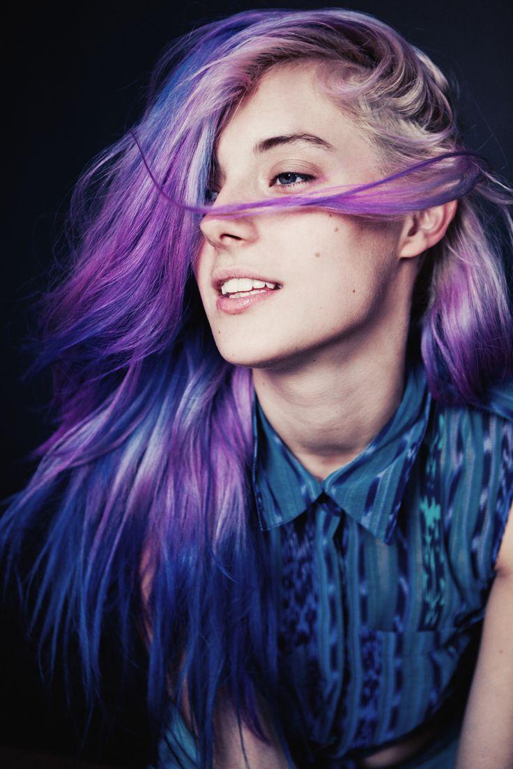 Purple & Blue Colored Hair: Colors Combos, Chloenorgaard, Purple Hair, Hair Colors, Ombre Hair, Blue Hair, Chloe Norgaard, Pastel Hair, Colors Hair