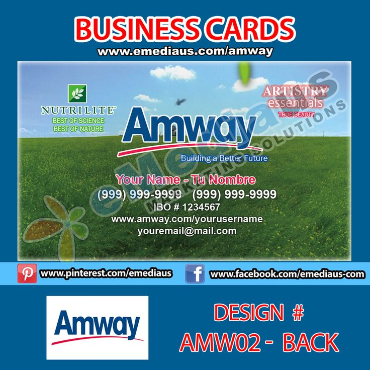 The 14 best Amway Portfolio images on Pinterest   Business cards ...