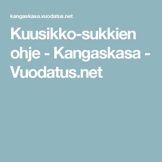 Kuusikko-sukkien ohje - Kangaskasa - Vuodatus.net