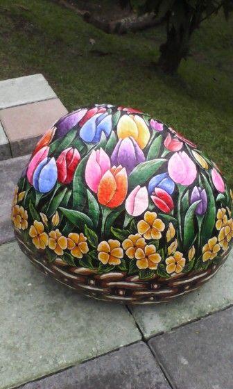 Canasta de tulipanes para mi jardin