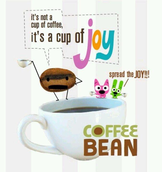 It's not a cup of coffee, it's a cup of joy Spread the JOY!!!  ➡ More Cartoon Graphics & Greetings: http://cartoongraphics.blogspot.com/ ~And on Facebook~ https://www.facebook.com/dreamontoyz Hallmark's Hoops, Yoyo and Coffee Bean