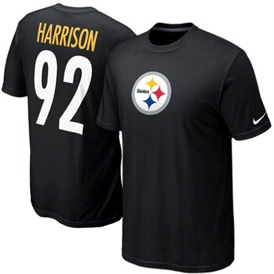 Nike James Harrison Pittsburgh Steelers #92 Name \u0026 Number T-Shirt - Black. Nfl  ApparelNike ...