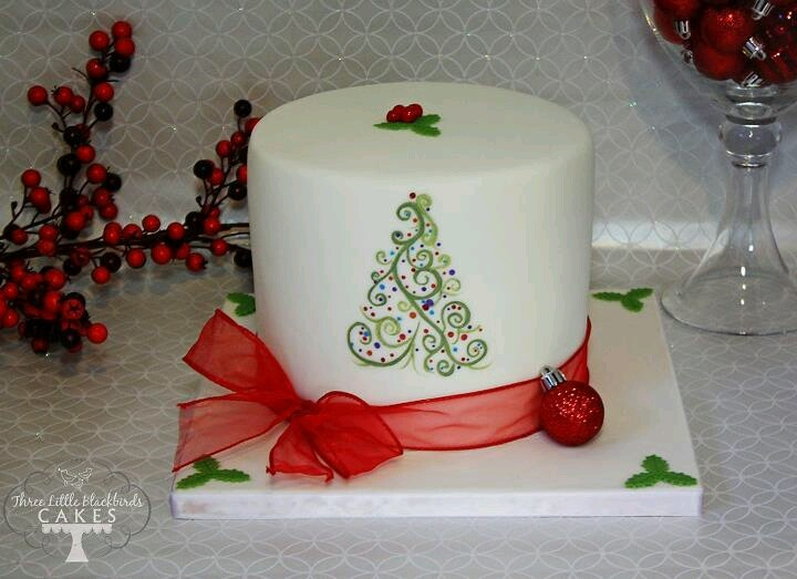 Simple Christmas Cake Images : Simple christmas cake Cake Pinterest