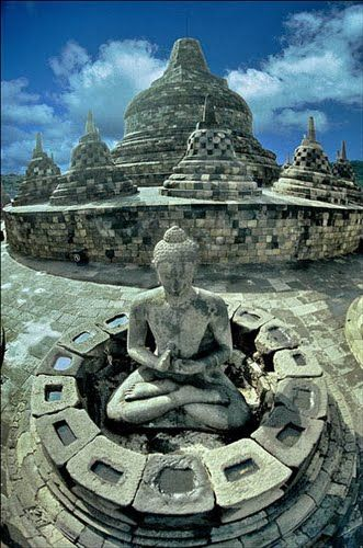 Borobudur Temple Compounds, Indonesia >>> I saw a special about this on TV, beautiful place and they are having a tough time keeping it clean and stable.