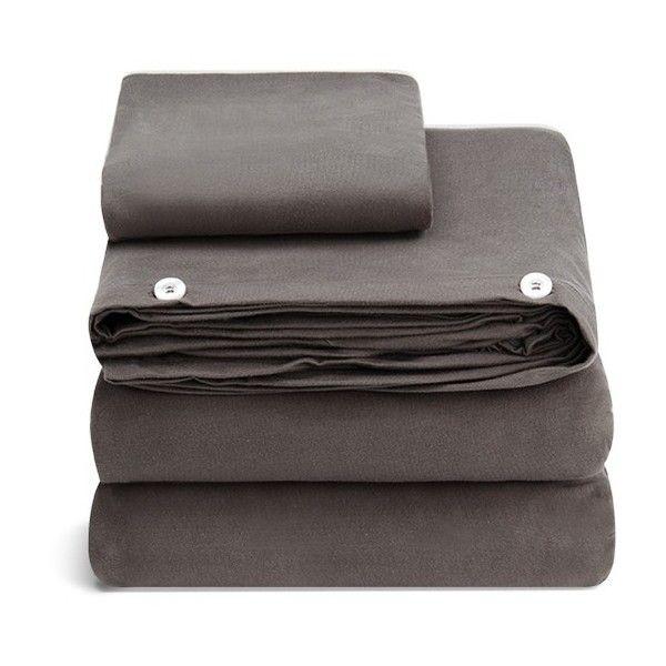 Mikmax Portbou twin size duvet set (975 BRL) ❤ liked on Polyvore featuring home, bed & bath, bedding, duvet covers, gray twin bedding, twin bedding, gray bedding, twin duvet set and grey twin bedding