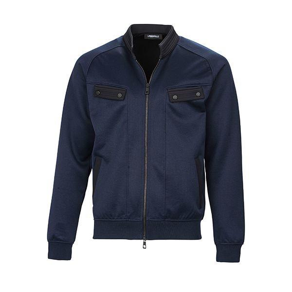 Dark blue jacket from #KarlLagerfeld l #DesignerOutletParndorf