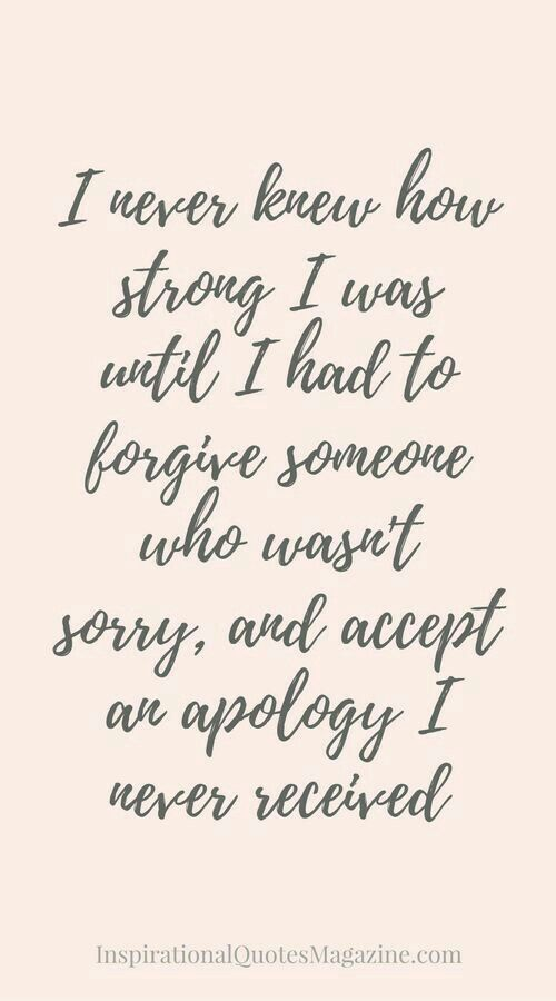 This is a very hard thing to do, but you feel a lot better once you forgive