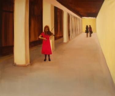 "Saatchi Art Artist Marta Zamarska; Painting, ""A Young Violinist on the Subway"" #art"