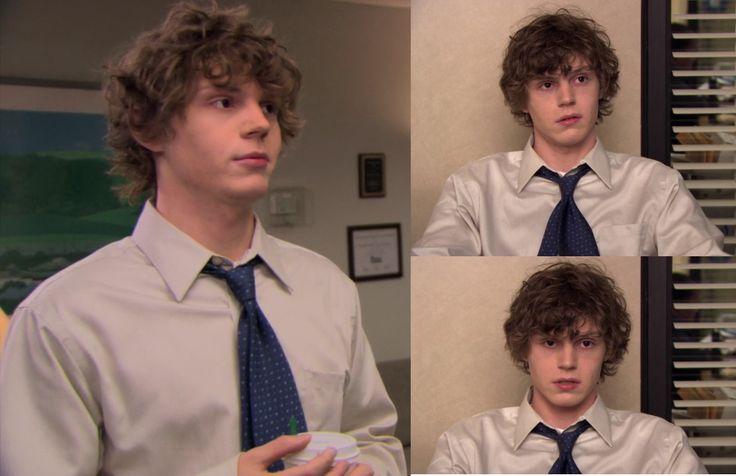 Evan Peters on The Office!