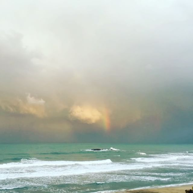 #officeoftheday #officeview #beforetherain #event #casino#biarritz #rainbow #colors #morning