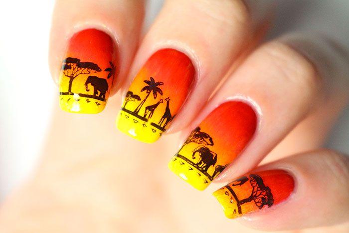 Nail art Disney : inspiration le Roi Lion!