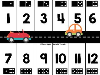 Domino Parking Lot Freebie with domino representation