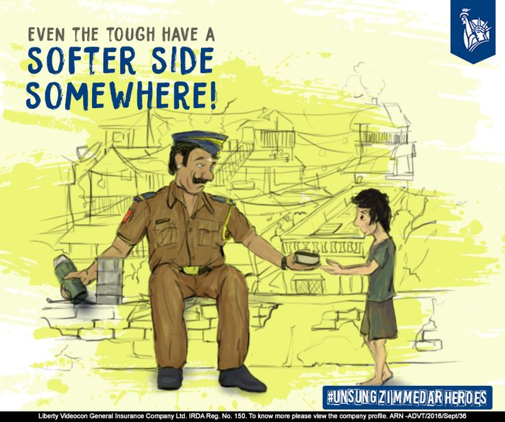 Take a look at the policeman, who often hides a kind heart behind a strong façade. #UnsungZimmedarHeroes