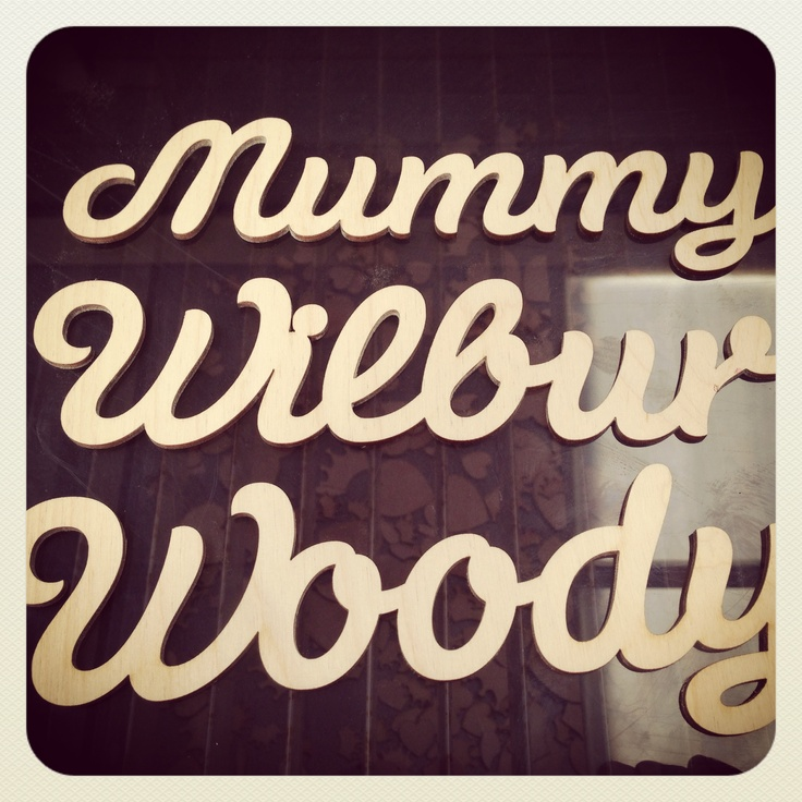 We're now making up custom wooden words just like these. Contact me at customshapes@craftshapes.co.uk if you're interested. Steve. :-)