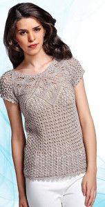 Eyelet knitted blouse