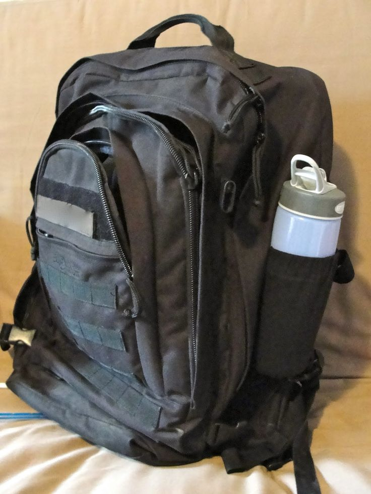 DIY waterbottle pocket for the backpacks that don't have one!