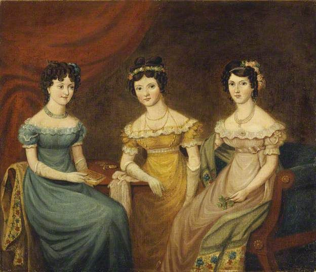 Unknown Welsh artist, The Three Hughes Sisters - National Museum Cardiff