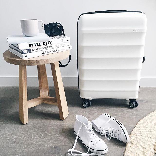 Antler luggage juno white travel hardshell case suitcase hardcase Samsonite colour color TSA