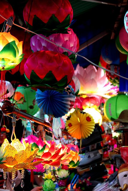 South Korea (Seoul lantern festival). Really digging the lotus flower lanterns :D