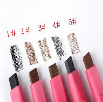 Rotação automática lápis de sobrancelha impermeável e suor não desmaiar maquiagem 5 cor de maquiagem alishoppbrasil