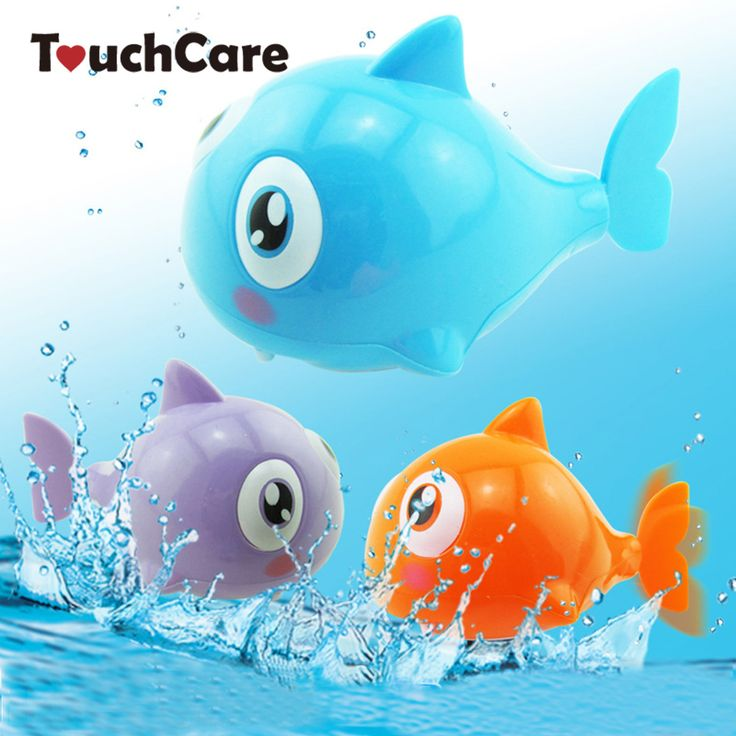 Cute Cartoon Funny Baby Bath Toy Swimming Animal Fish Clockwork Wind Up Toy Shark Plastic Pool Bath Toys Kids Gift Toy