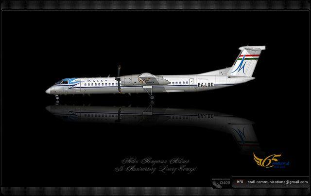 Malev Hungarian Airlines / De Havilland Canada DHC-8-400Q / Dash8 / Bombardier Aerospace / Q400 / 64th Anniversary / Livery concept