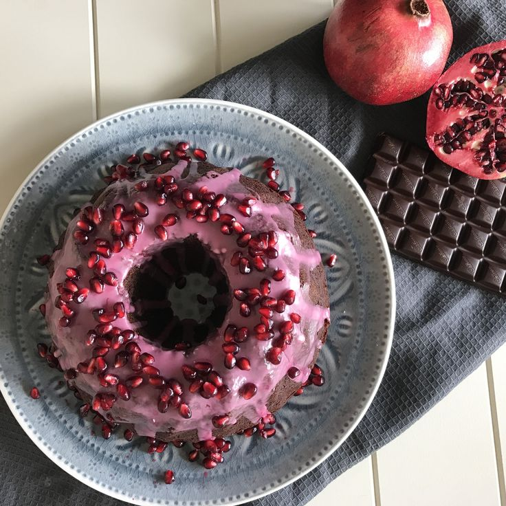 Chocolate & Pomegranate Bundt Cake