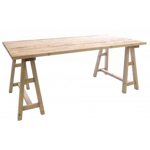 Vintage Style Trestle Table In 2020 Dining Table In Kitchen