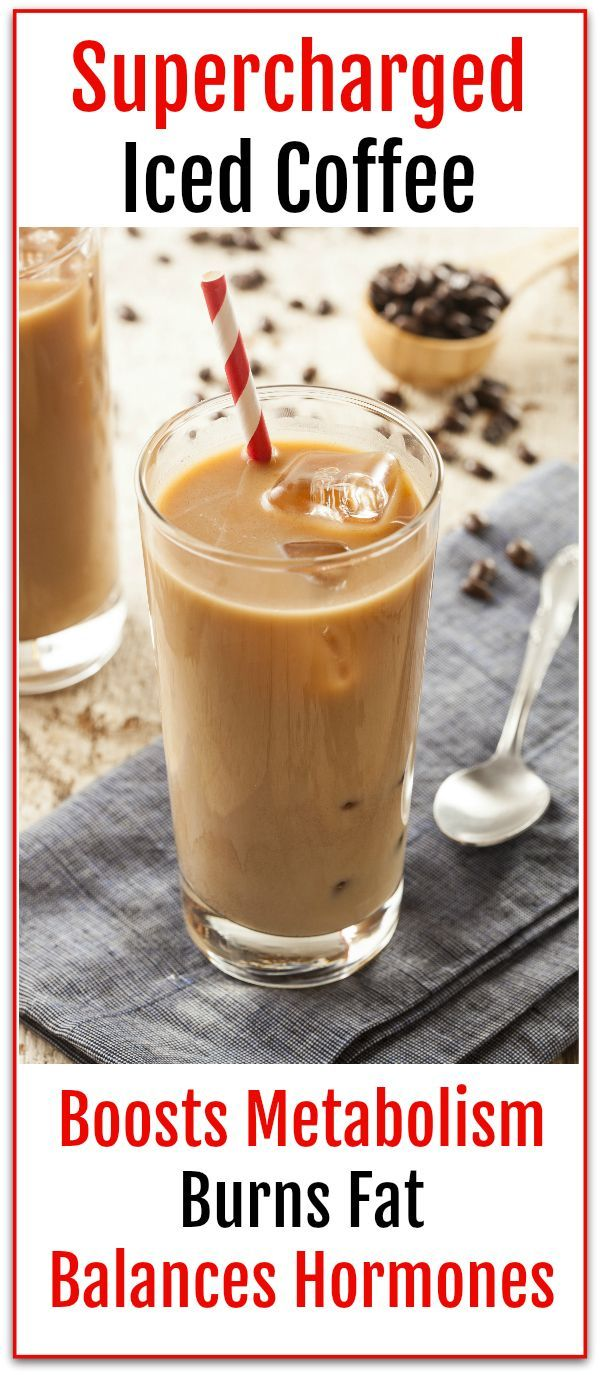 Supercharged Iced Coffee recipe for Fat burning and hormone balance.