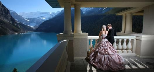 The Fairmont Chateau Lake Louise as a site for your #wedding! #Banff #Canada
