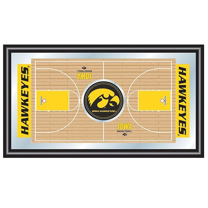 Trademark University of Iowa Basketball Framed Full Court Mirror