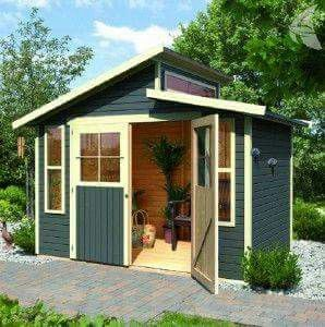 Garten haus  Karibu gartenhaus hakkında Pinterest'teki en iyi 20+ fikir ...