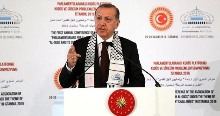 Erdogan: Palestina dan Melindungi Baitul Maqdis Adalah Tugas Muslimin  Foto: PIC  ISTANBUL Rabu (PIC): Presiden Turki Recep Tayyip Erdogan mendesak kaum Muslim untuk membela masalah Palestina dan Masjidil Aqsha. Erdogan juga mengecam keras berbagai pelanggaran yang dilakukan Israel. Hal itu ia ungkapkan dalam konferensi pertama ikatan parlemen untuk Baitul Maqdis di Istanbul.  Ini adalah tugas seluruh Muslim untuk mendukung perkara rakyat Palestina dan melindungi Baitul Maqdis tegas Erdogan…