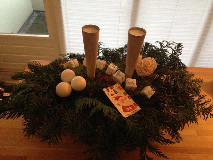 Wit kerststuk