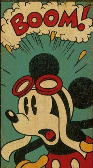 a early cartoon photo of Mickey