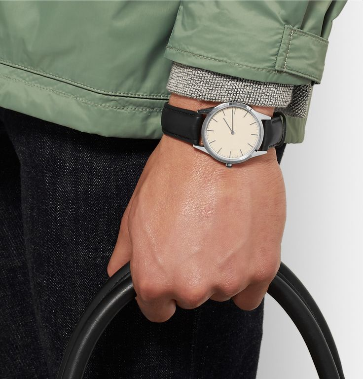 Uniform Wares - C35 Stainless Steel and Leather Wristwatch