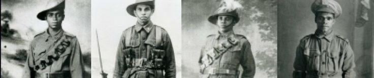 Aboriginal Australians have been serving in the defence of the Nation since before the Australian nation even exisited. Unfortunately there are no records to reflect the numbers who have served because in Australia a soldiers race was never recorded. These four brothers from the Lock family of New South Wales all volunteered and served in France Durring the First World War.