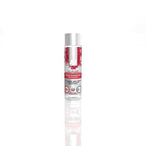 System Jo All in One WARMING Massage Oil Personal Lubricant Glide Warming : Size 4 Fl Oz / 120 Ml.