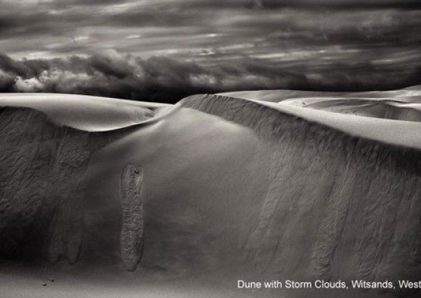 Dune with Storm Clouds, Witsands, Western Cape  Check out Peter Delaney's photographs from The Intrepid Explorer's Life through the Lens - www.intrepidexplorer.co.za