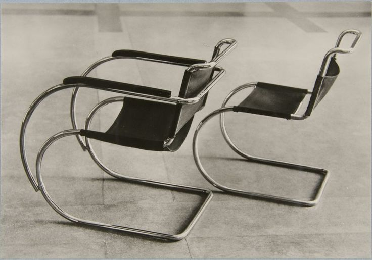 Chairs by Mies van der Rohe at the Bauhaus building in Dessau, 1928.(via rosswolfe). / Charnel House