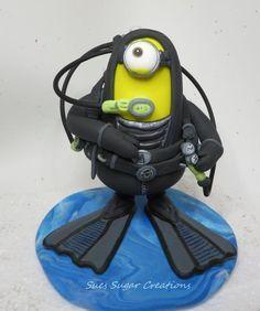 Scuba Diver minion by Sues Sugar Creation