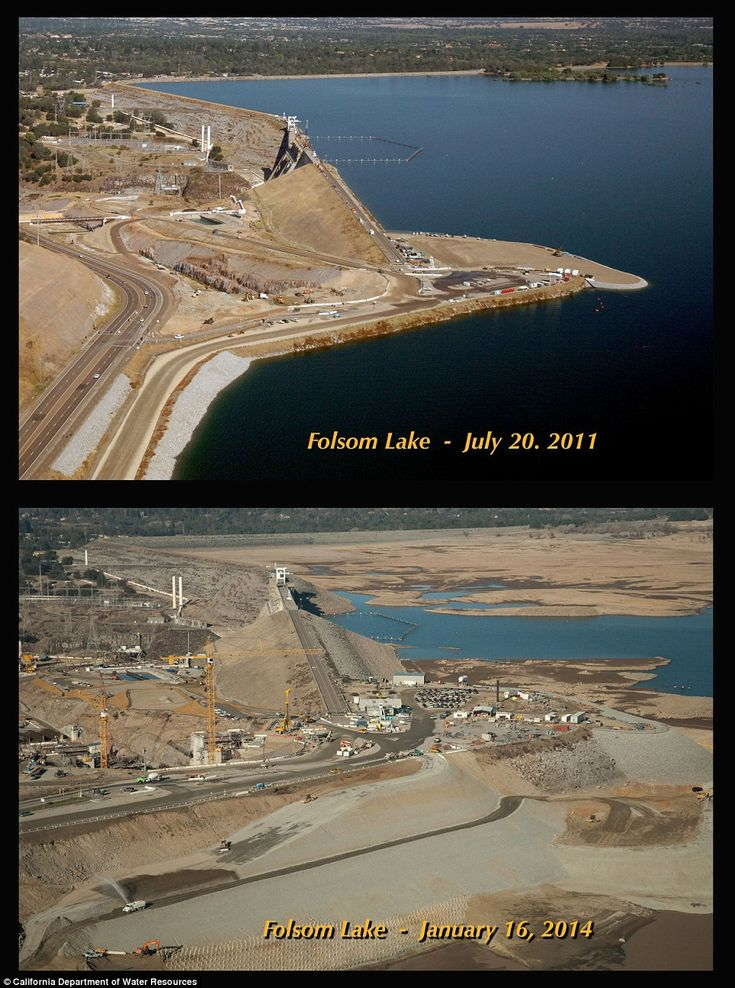 Before and after pics of ca drought show shocking extent