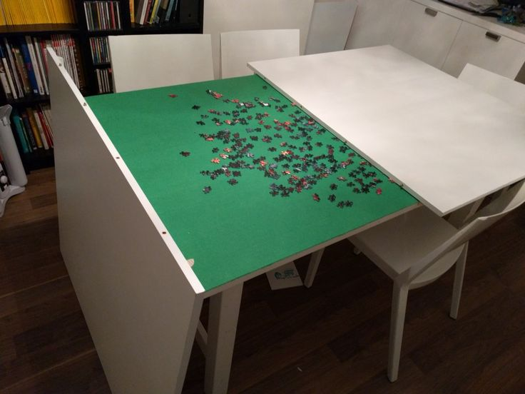 500 pc puzzle in progress on IKEA NORDEN table                                                                                                                                                                                 More