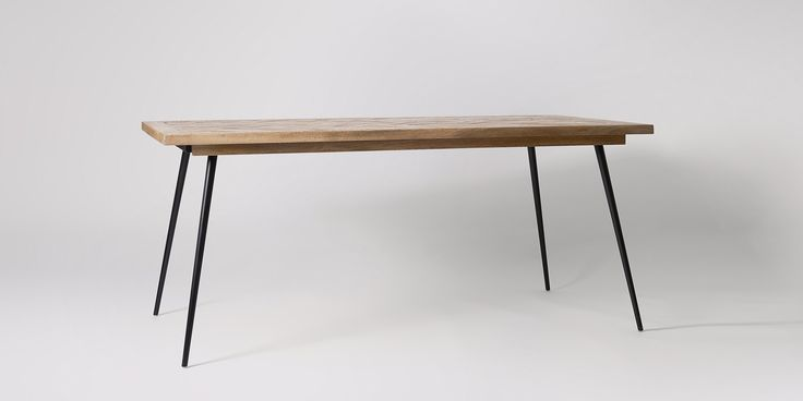Swoon Editions Dining table, contemporary style in mango wood and Charcoal - £499