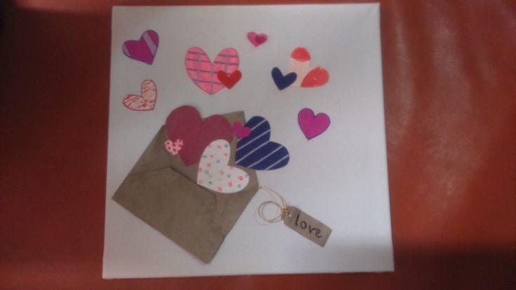Sending love handmade canvas
