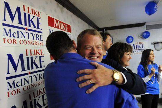 Democratic Rep. Mike McIntyre defeats Republican David Rouzer in North Carolina