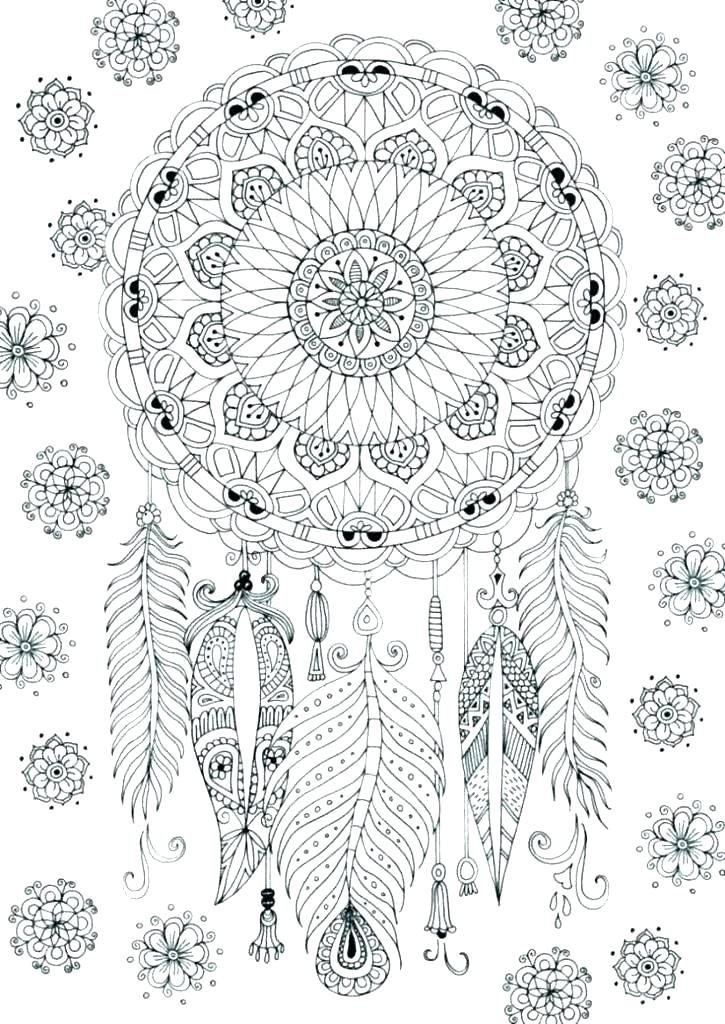Dream Catchers Wolves Coloring Pages Wolf Dream Catcher Coloring Pages Colle Dream Catcher Coloring Pages Mandala Coloring Pages Coloring Pages Inspirational